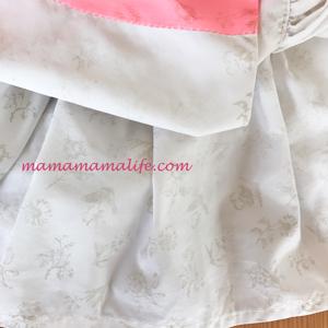 マールマール エプロン 花柄 クリーム ドレスエプロン お誕生日 1歳 離乳食エプロン