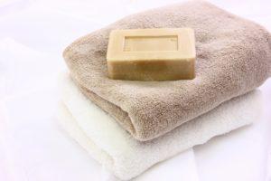 バスタオルと石鹸